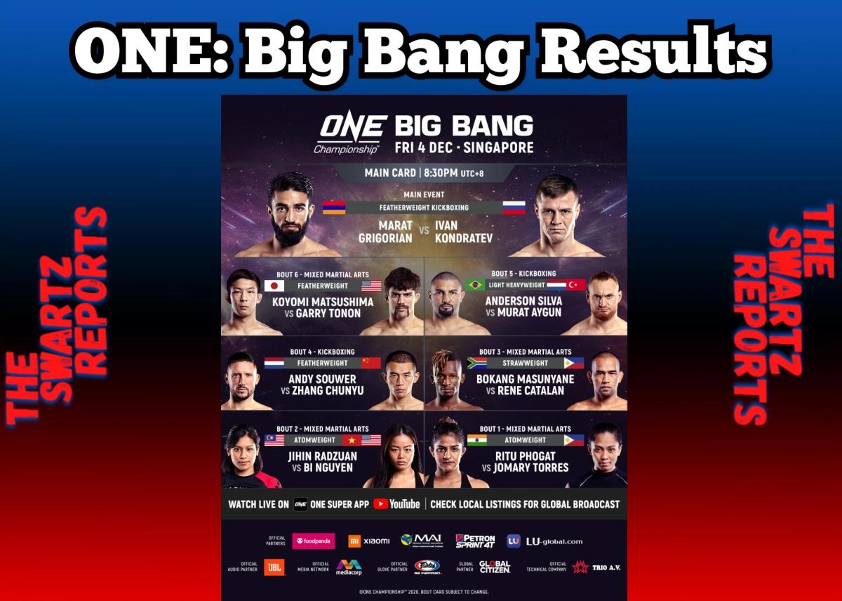 ONE: Big BangResults